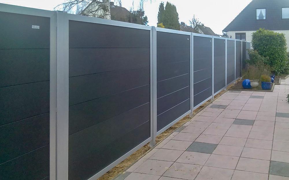 Sichtschutz für Ihren Garten, Einfassung aus Aluminium