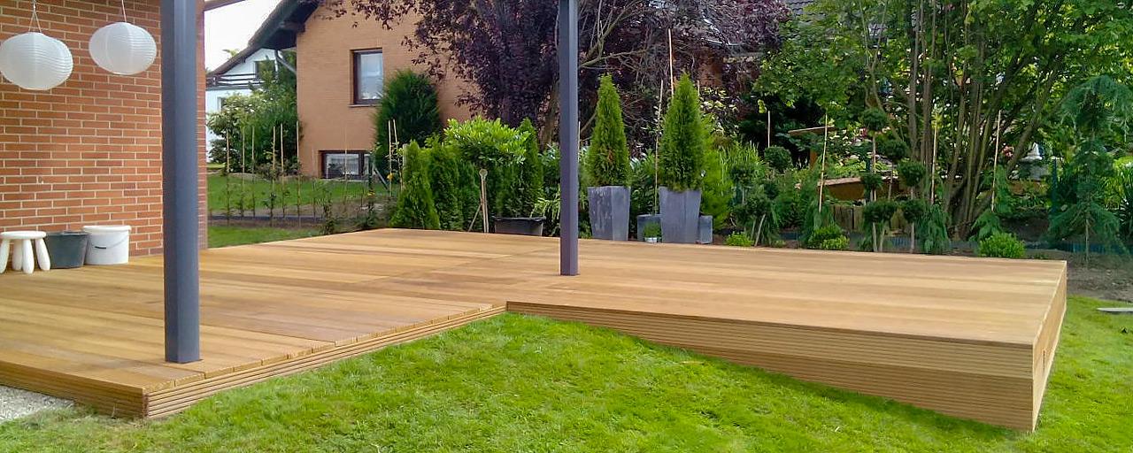 "Terrasse aus Holz ""Bankirai"""