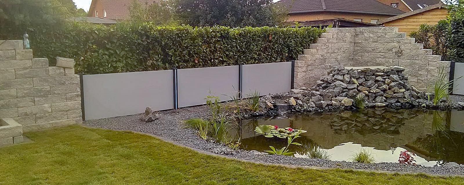 Gestalteter Garten mit Teich - Kappmeier Galabau